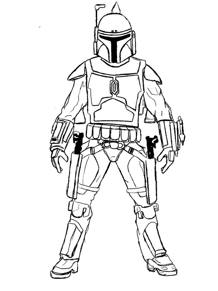 Mandalorian coloring pages Free