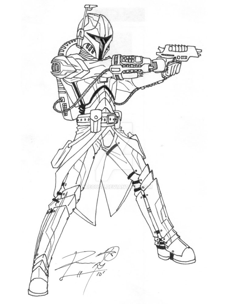 Mandalorian coloring pages. Free Printable Mandalorian coloring pages.