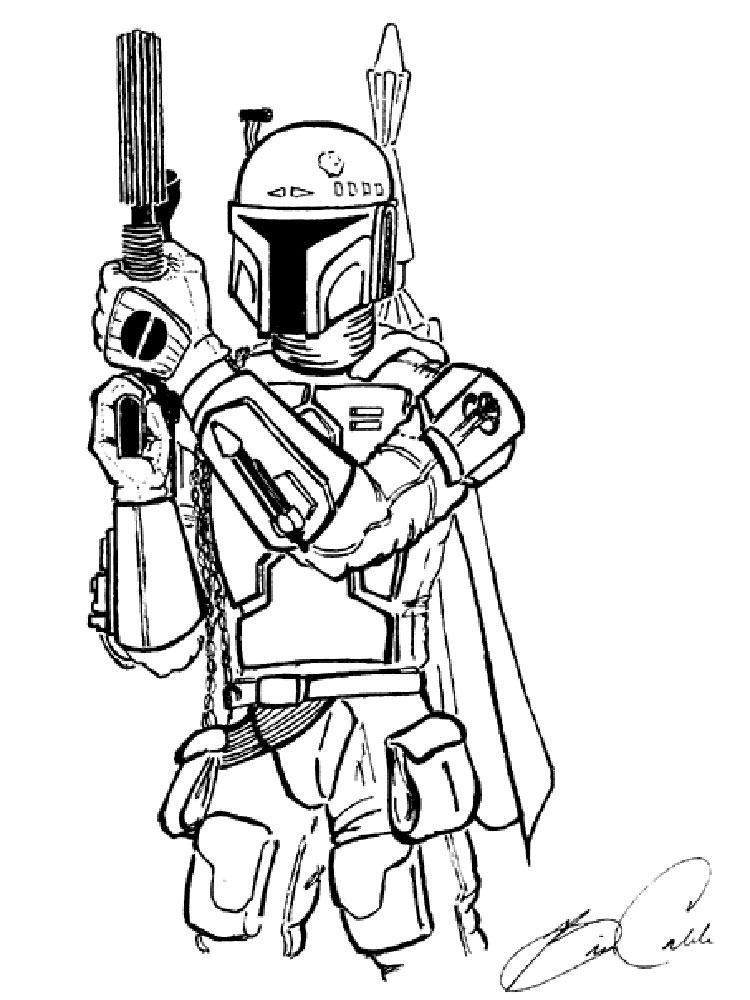 Mandalorian Coloring Pages Free Printable Mandalorian