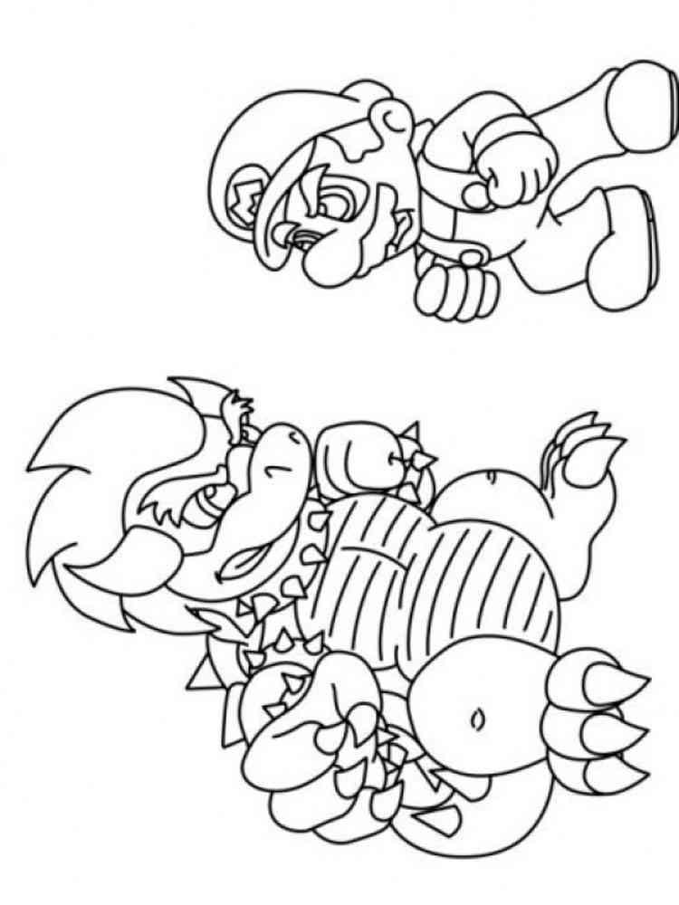 Mario Bowser coloring pages. Free Printable Mario Bowser ...