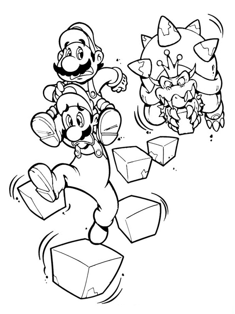 Mario Bowser Coloring Pages Free Printable Mario Bowser Mario Coloring Pages For Boys