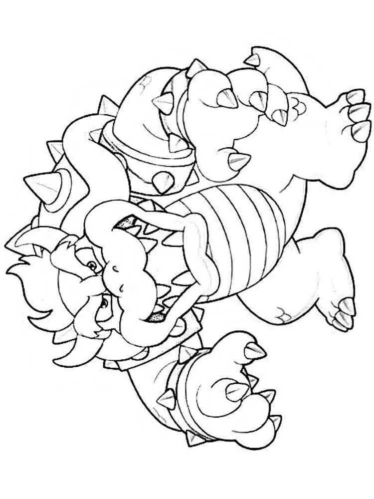 mario bowser coloring pages free printable mario bowser