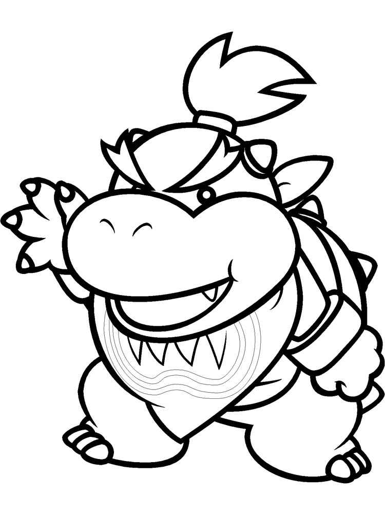 mario bowser coloring pages for boys 15 - Bowser Coloring Pages