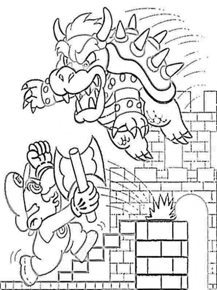 Mario Bowser coloring pages. Free Printable Mario Bowser coloring pages.