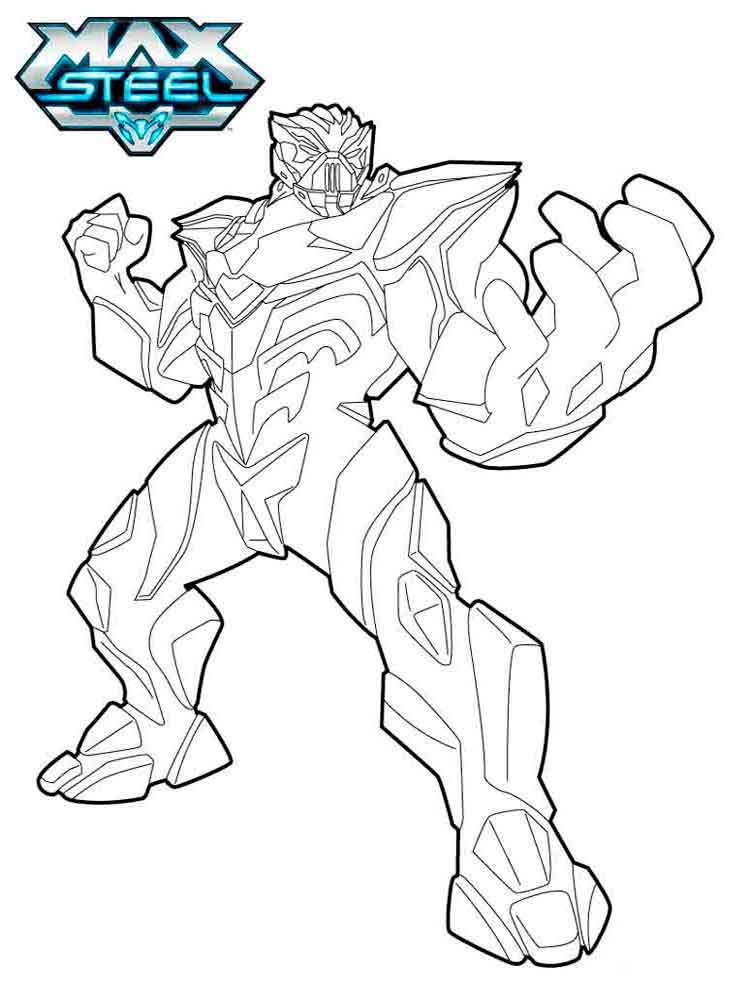 max steel coloring pages 12