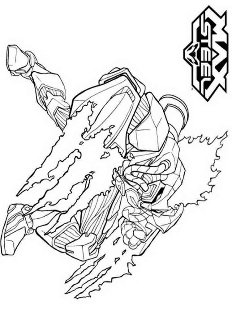 Max steel coloring pages Download