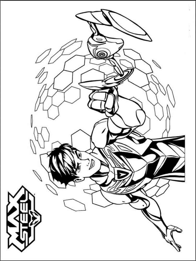 max steel coloring pages 17