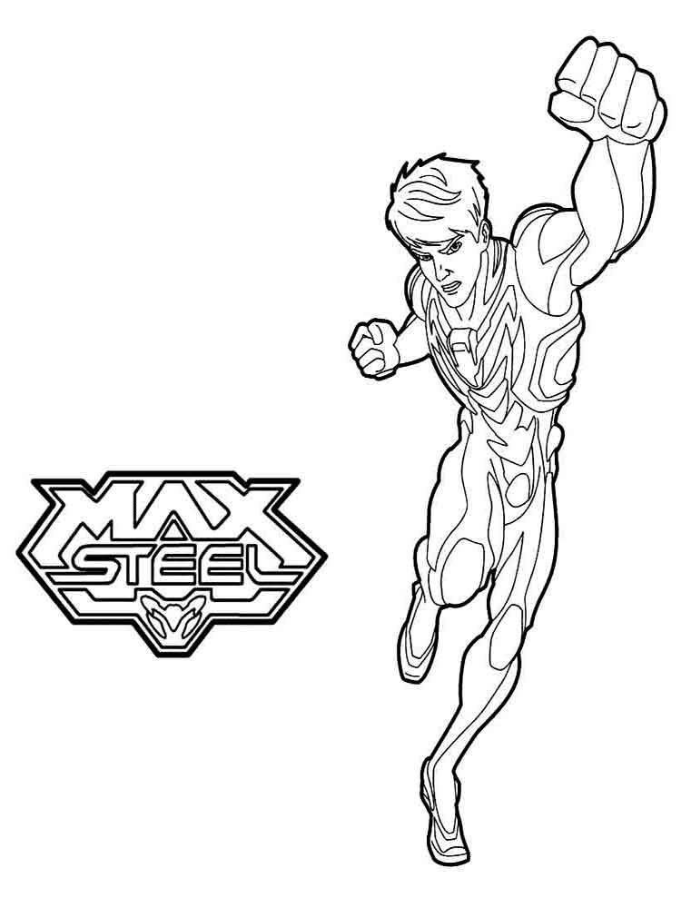 coloring pages max steel - photo#12