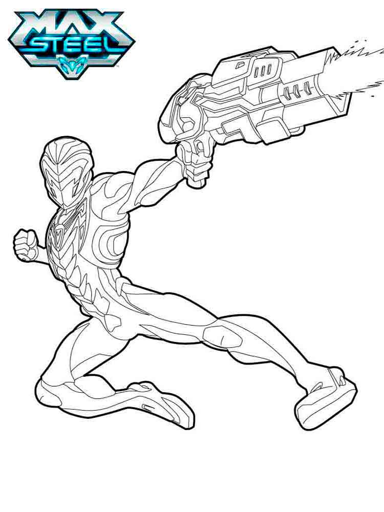 Max steel coloring pages. Download and print Max steel coloring pages