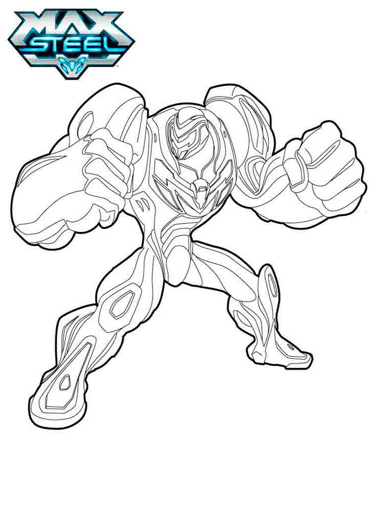 max steel coloring pages 7