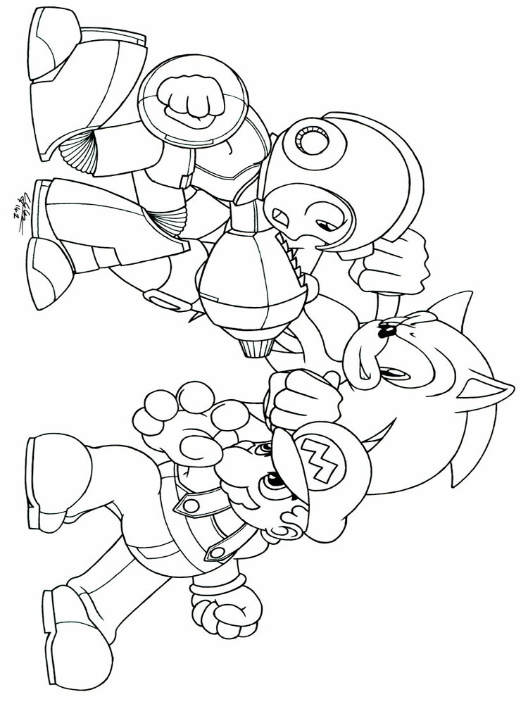 Mega Man coloring pages Free Printable