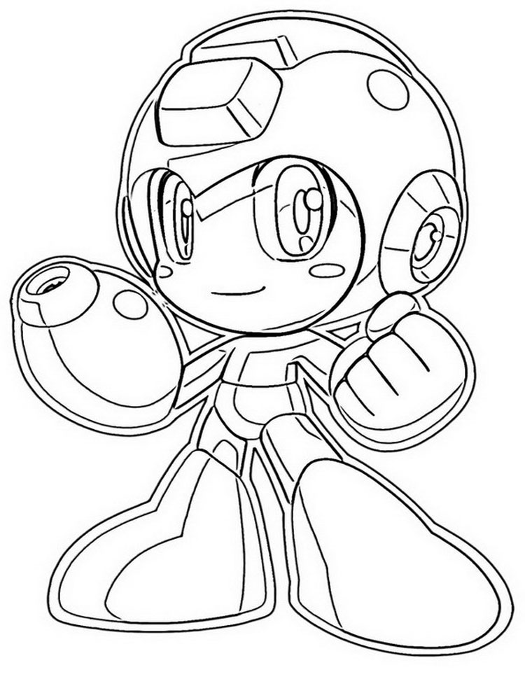 megaman coloring pages - Master Coloring Pages
