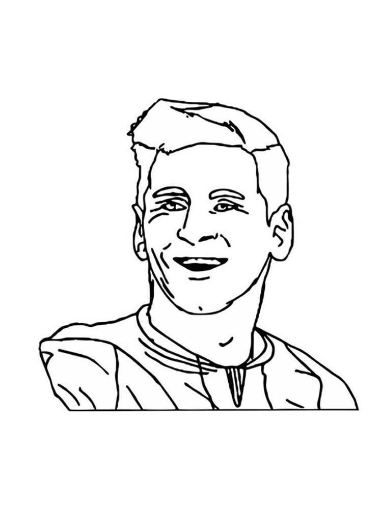 Lionel Messi coloring page | Free Printable Coloring Pages | 1000x750