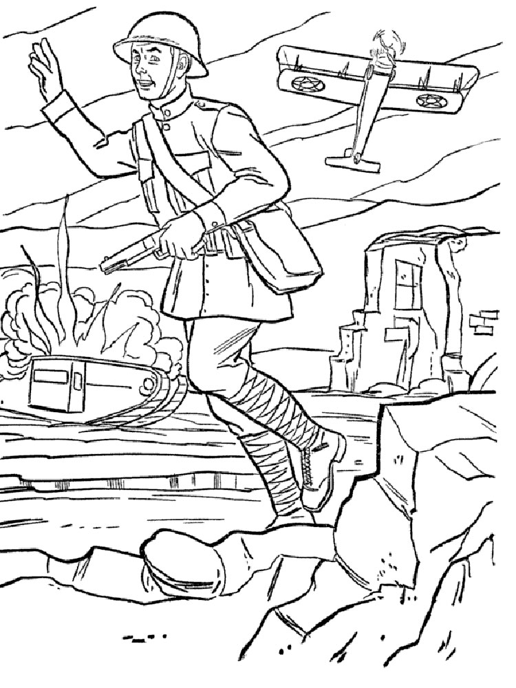 Military coloring pages Free Printable