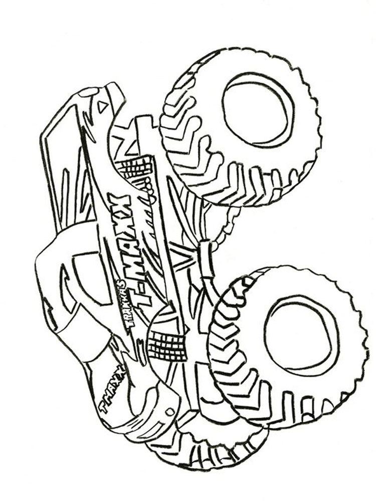 Monster Truck Coloring Pages Free Printable Monster Truck