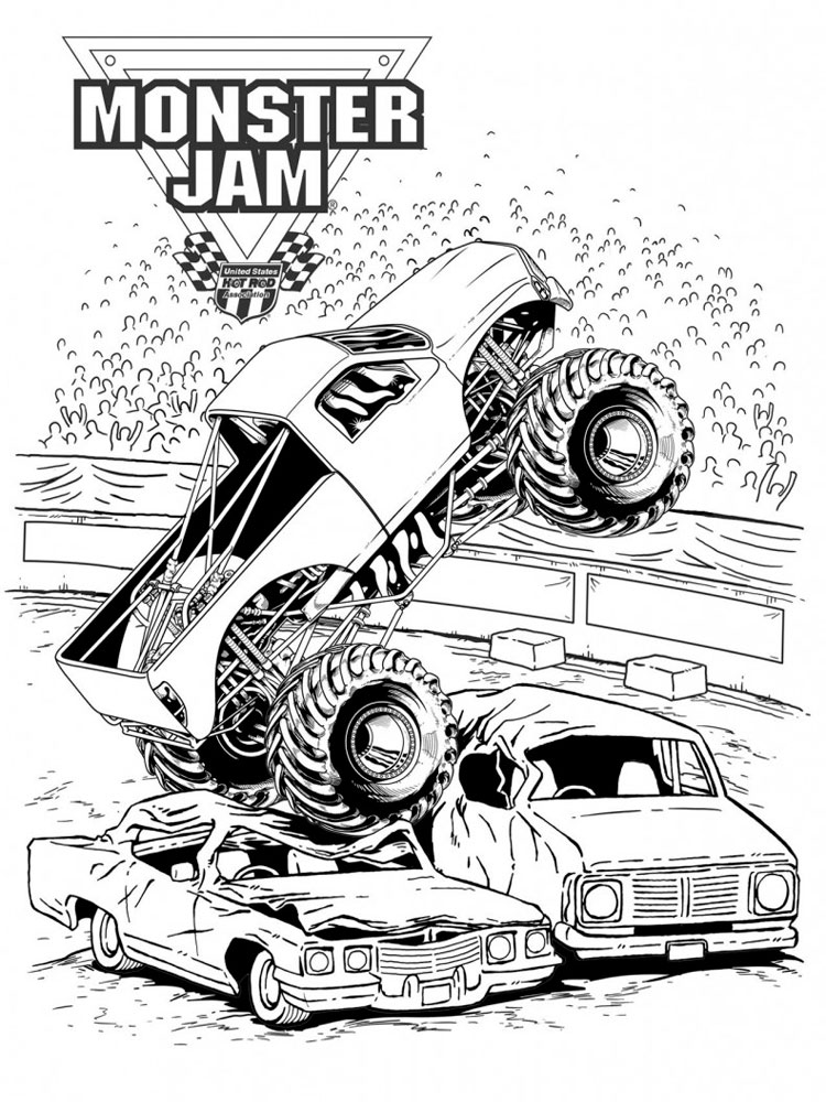 Monster Truck coloring pages. Free Printable Monster Truck ...