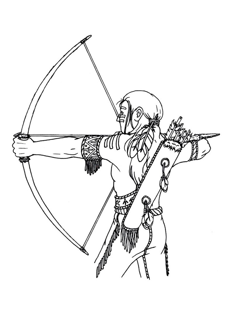 Native American boy coloring pages Free Printable Native
