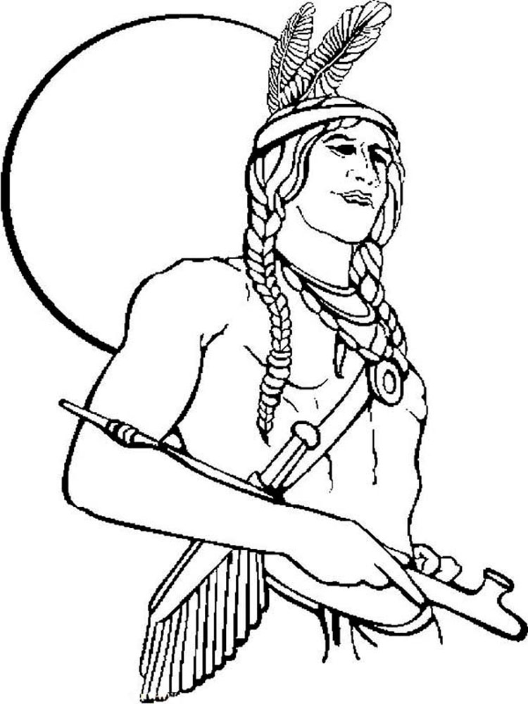 Native American boy coloring pages. Free Printable Native ...