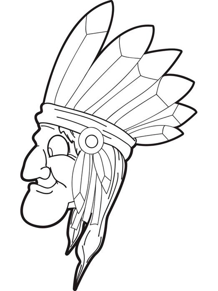 Native American boy coloring pages. Free Printable Native American ...