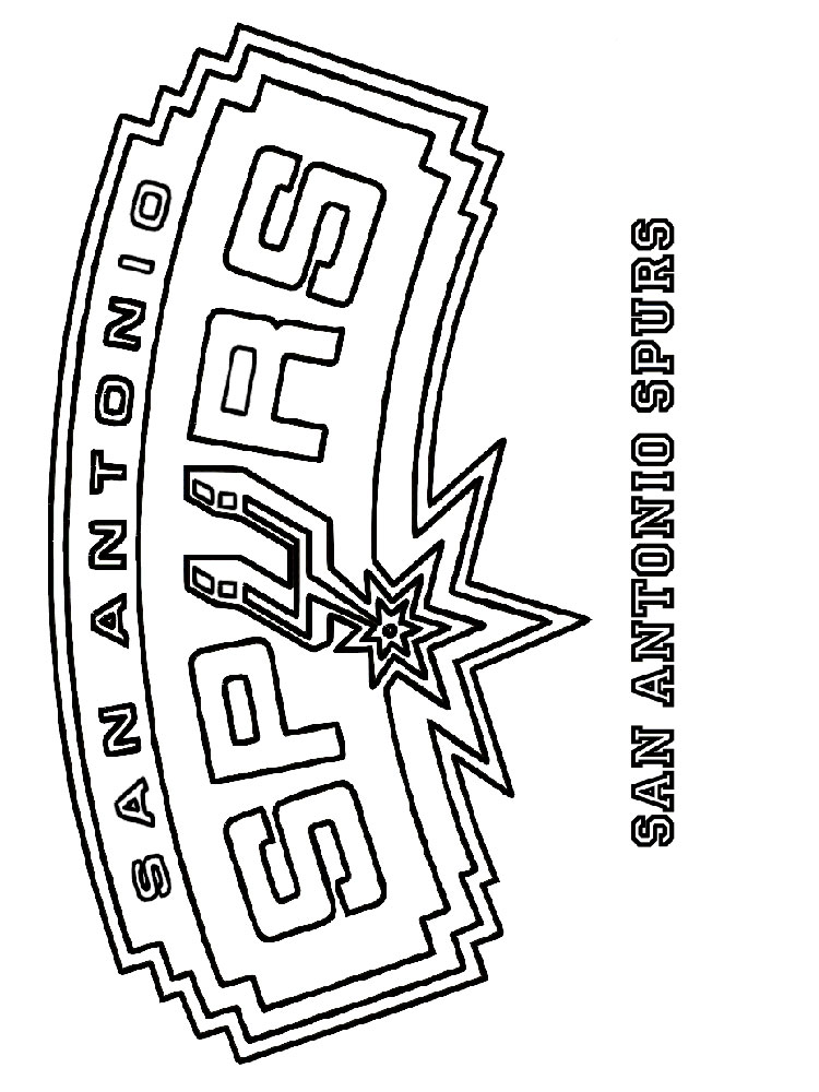 NBA Team coloring pages Free Printable