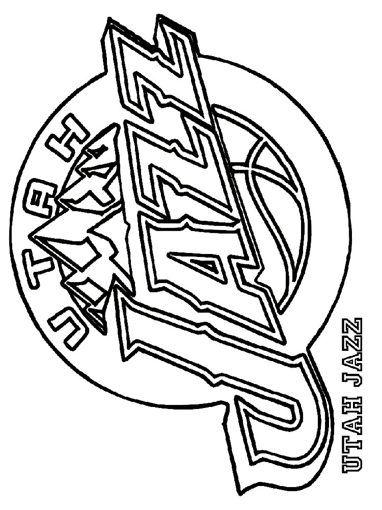 Cool Coloring Pages Basketball Clubs Logos Conference Southeast Division 114 Outstanding Nba
