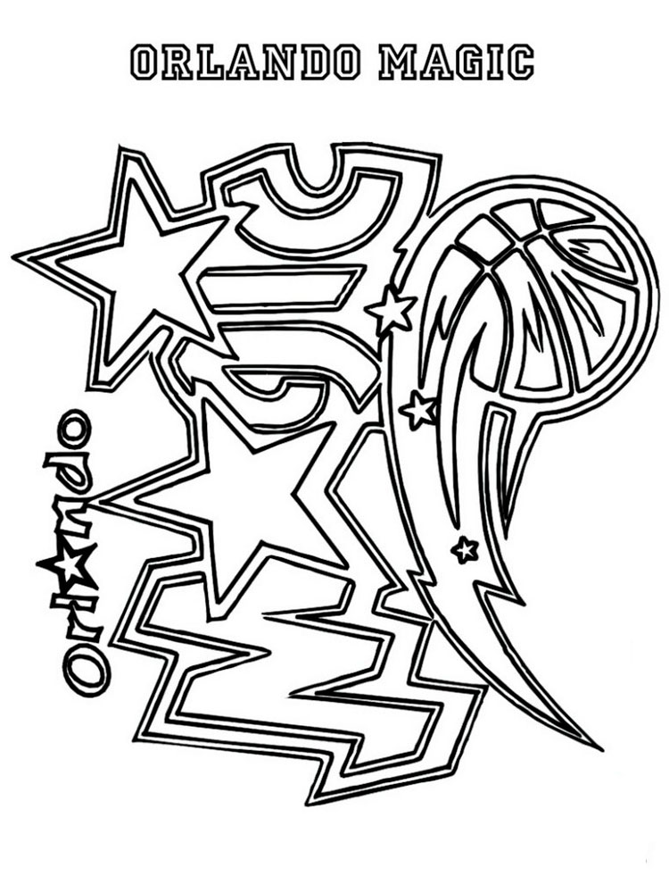 NBA Team Coloring Pages. Free Printable NBA Team Coloring