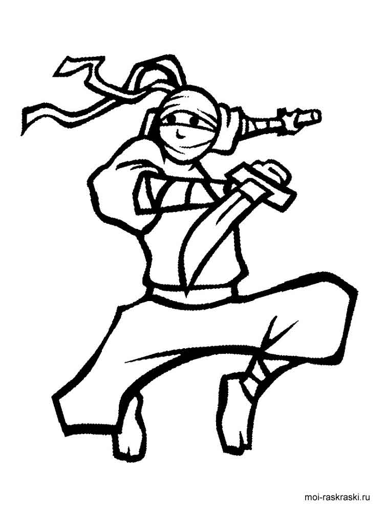 This is a photo of Divine Ninja Coloring Book
