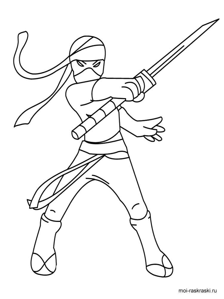 Ninja coloring pages Free Printable Ninja coloring pages