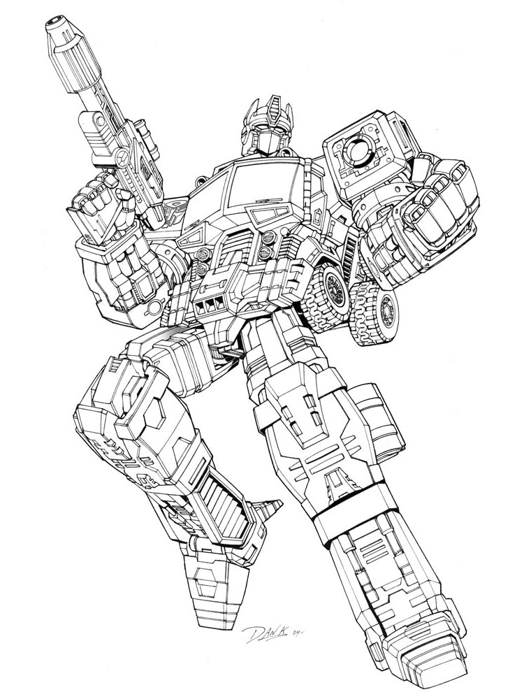 Transformers Optimus Prime Coloring Pages For Boys 1 ...