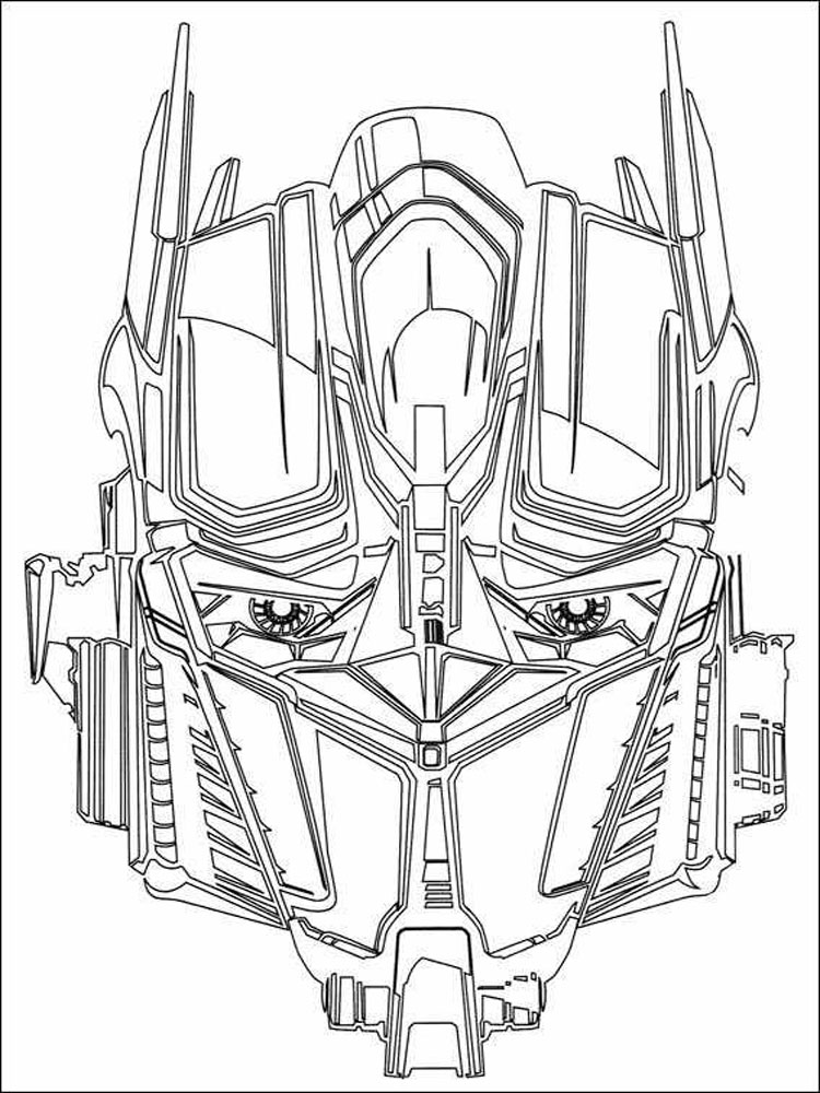 Optimus Prime coloring pages Free Printable Optimus Prime coloring