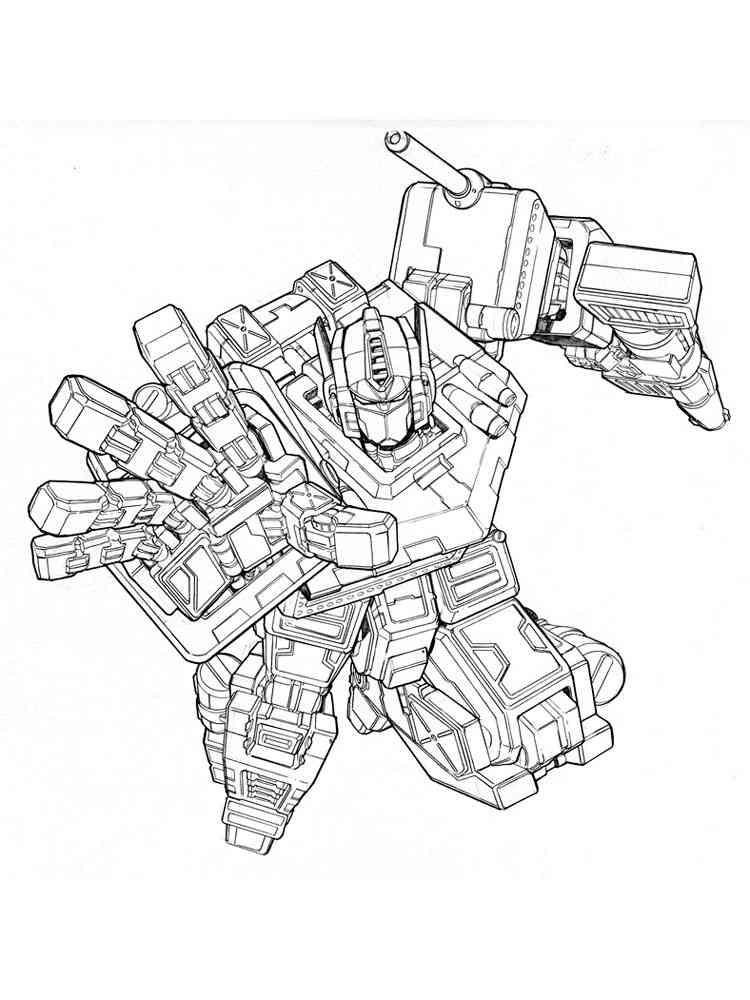 Optimus Prime Coloring Pages. Free Printable Optimus Prime