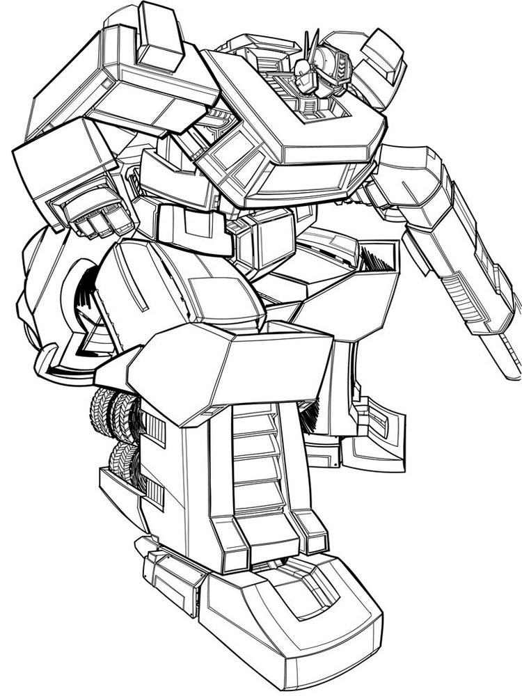 Optimus Prime coloring pages Free