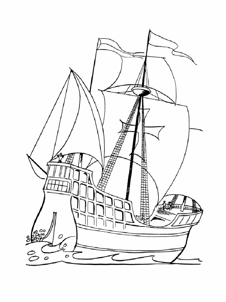 Pirate Ship coloring pages. Free Printable Pirate Ship ...