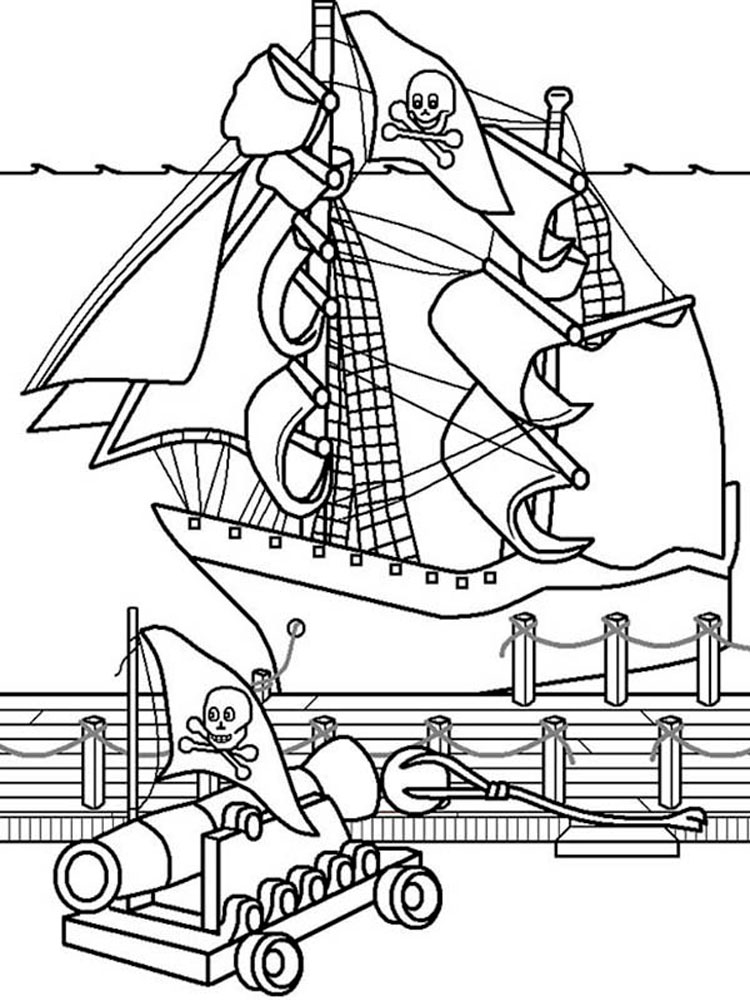Pirate Ship coloring pages. Free Printable Pirate Ship coloring pages.