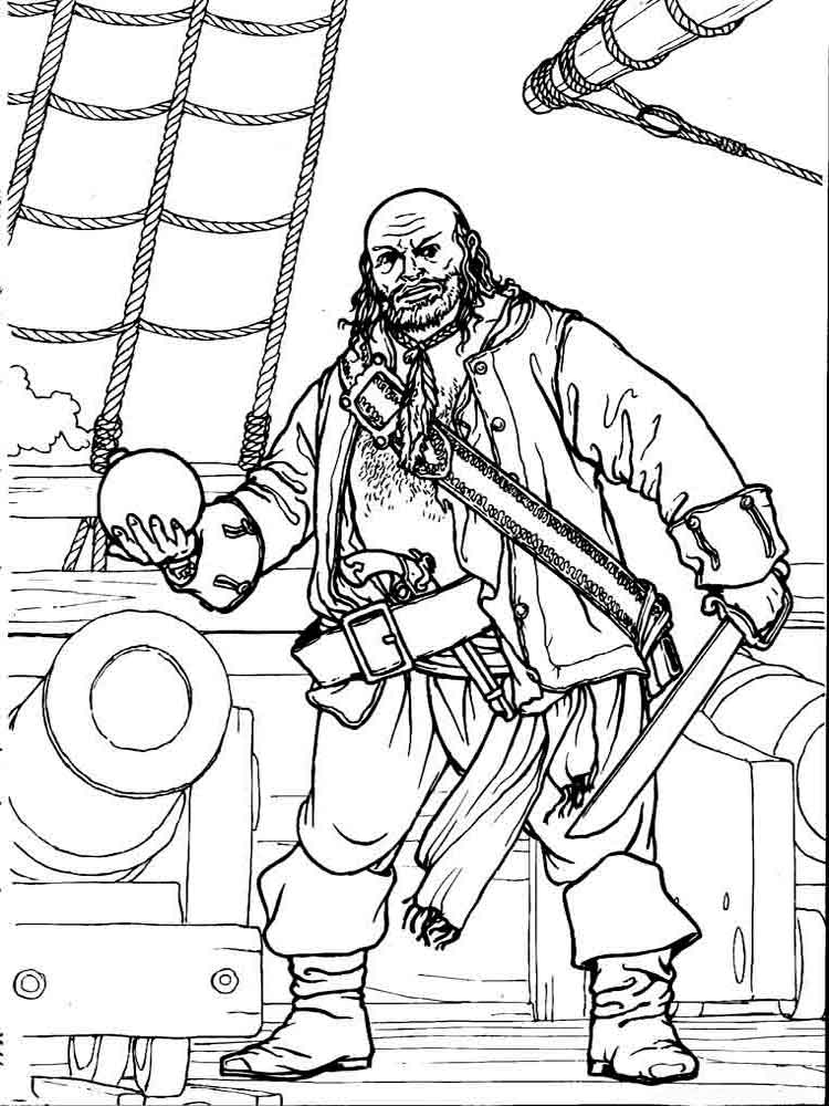 Pirates coloring pages. Download and print pirates ...