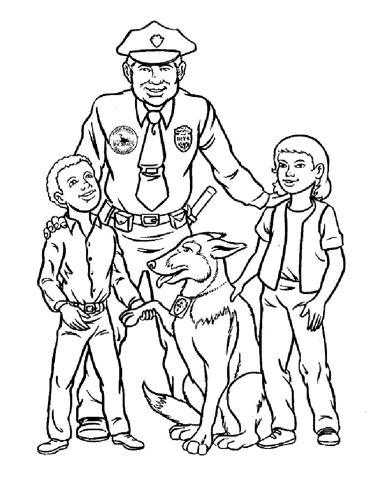 - Police Officer Coloring Pages. Free Printable Police Officer Coloring Pages.