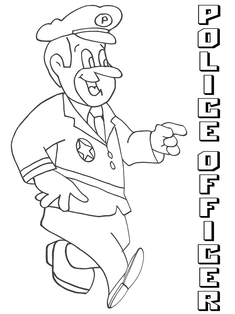 Police Officer coloring pages. Free Printable Police ...