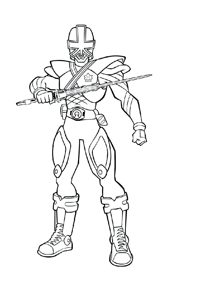 Power Rangers Samurai Coloring Pages Free Printable Power