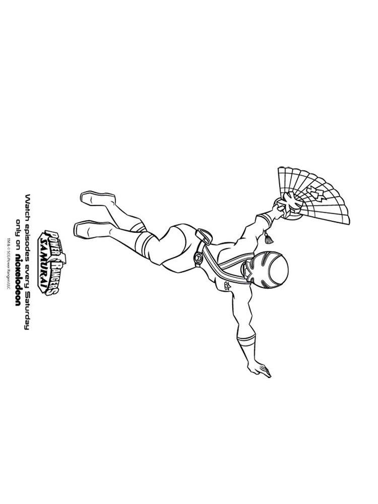 Power Rangers Samurai coloring pages. Free Printable Power ...