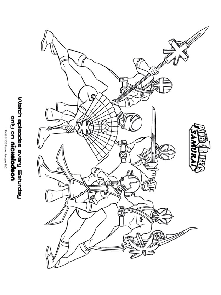 Power rangers samurai coloring pages free printable power for Samurai rangers coloring pages