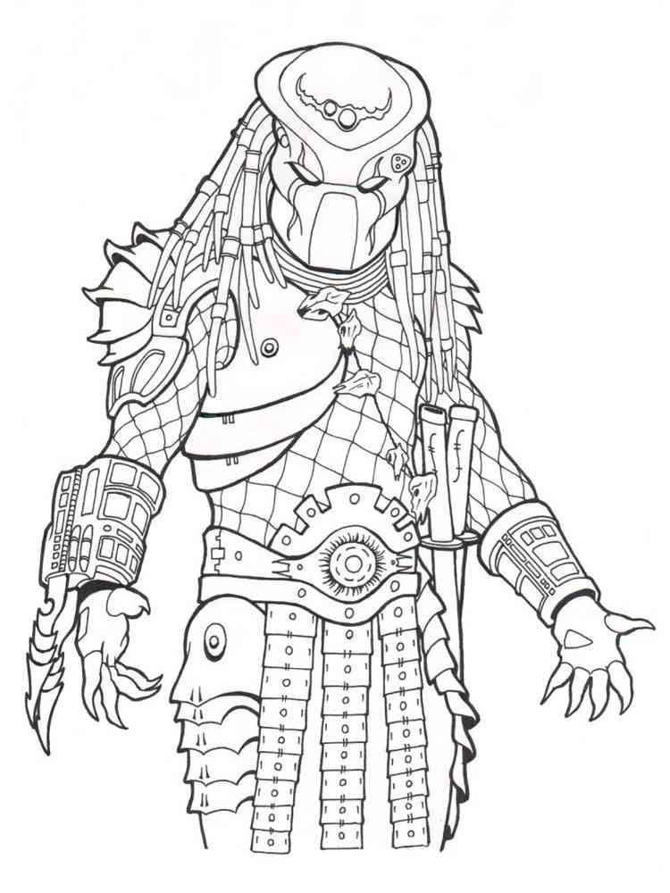 Predator coloring pages Free Printable Predator coloring pages