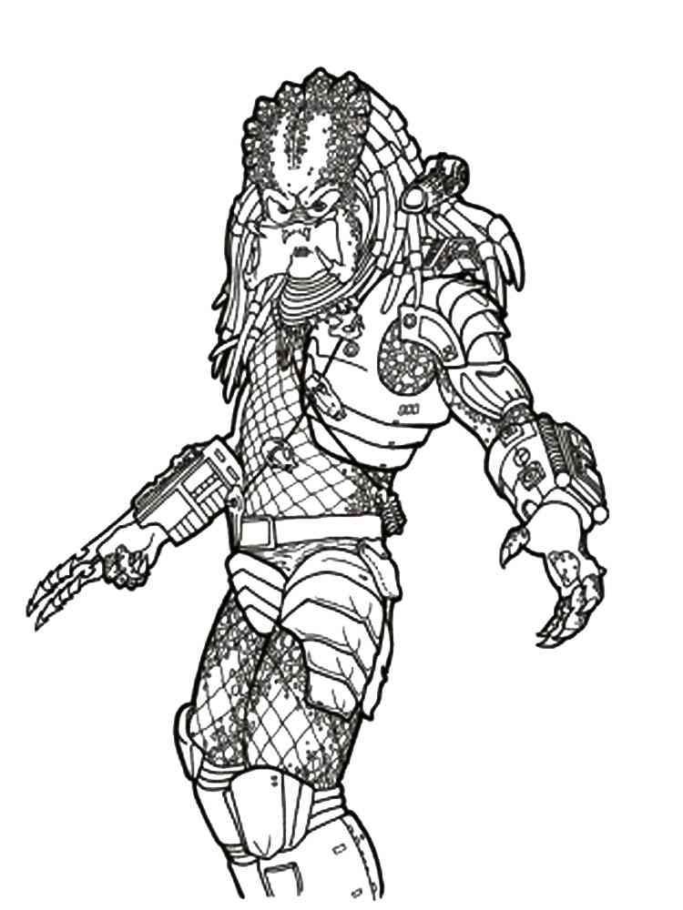 Predator coloring pages Free Printable