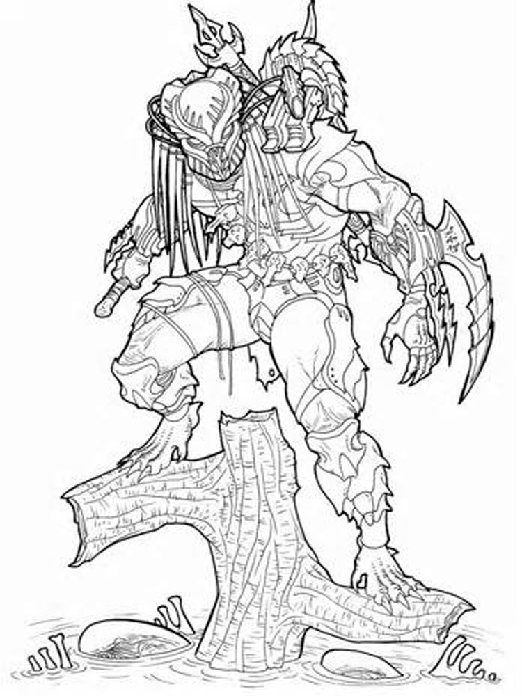 Predator coloring pages Free Printable Predator coloring pages