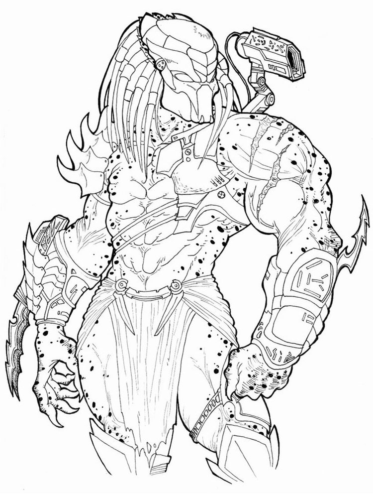 Predator coloring pages Free Printable