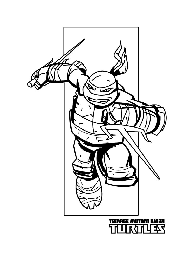 Free Raphael ninja turtles coloring pages. Download and ...