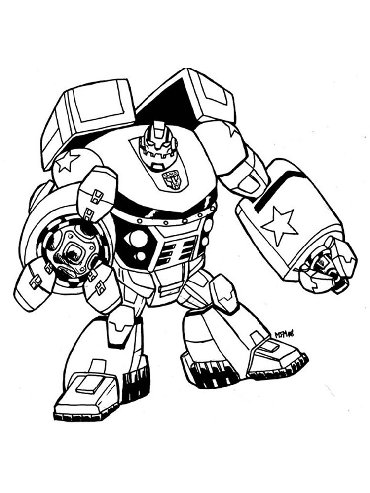 Robots and Transformers coloring pages Free Printable