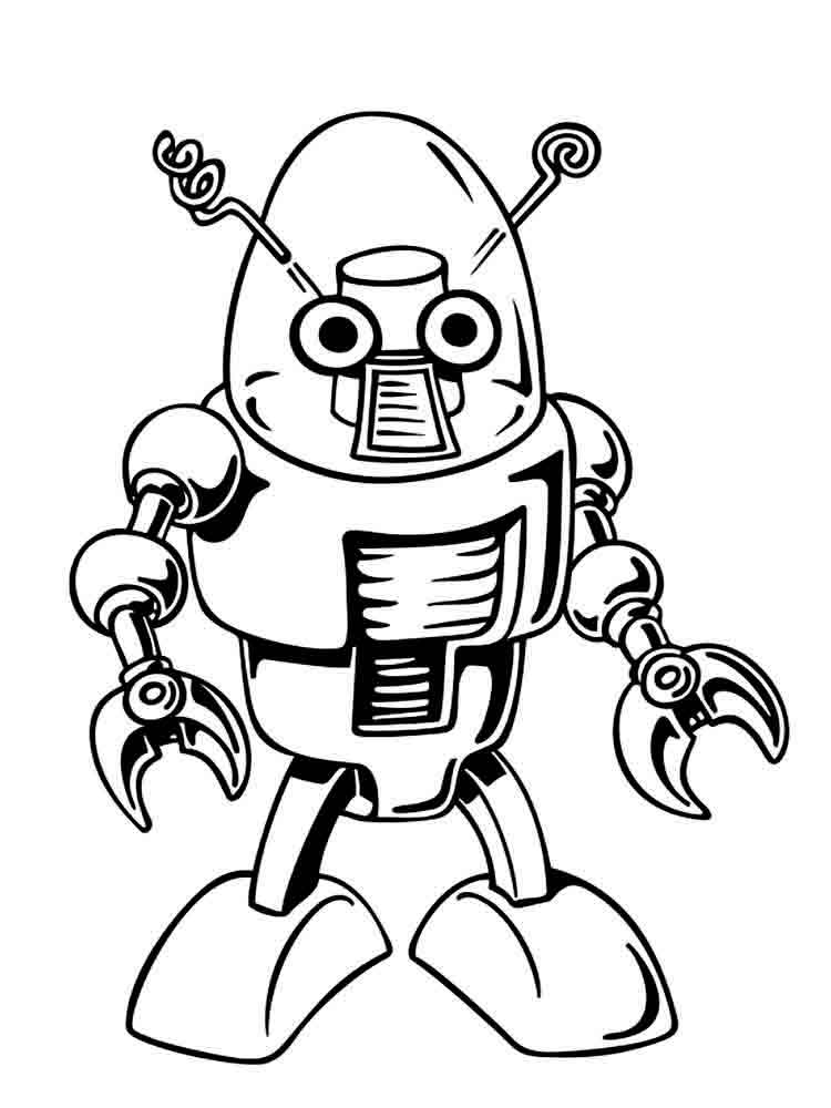 free printable robots coloring pages - Coloring Pages Robot