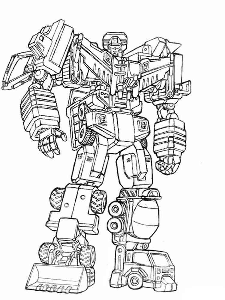 Robots coloring pages download and print robots coloring - Coloriage transformers ...