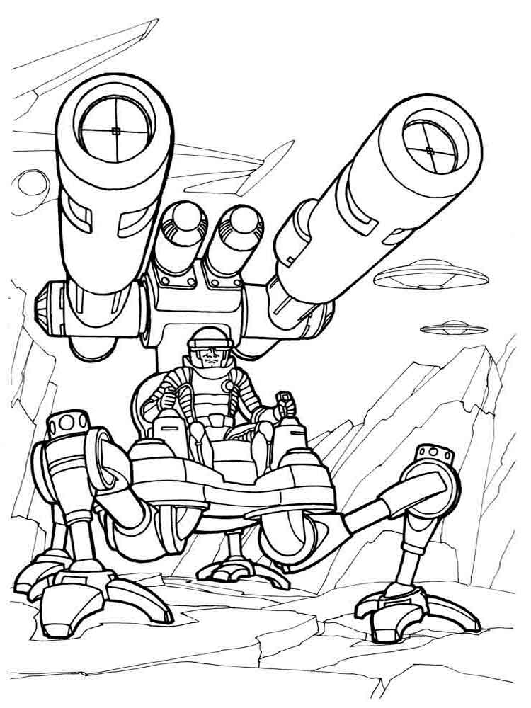 Robots coloring pages Download and print robots coloring