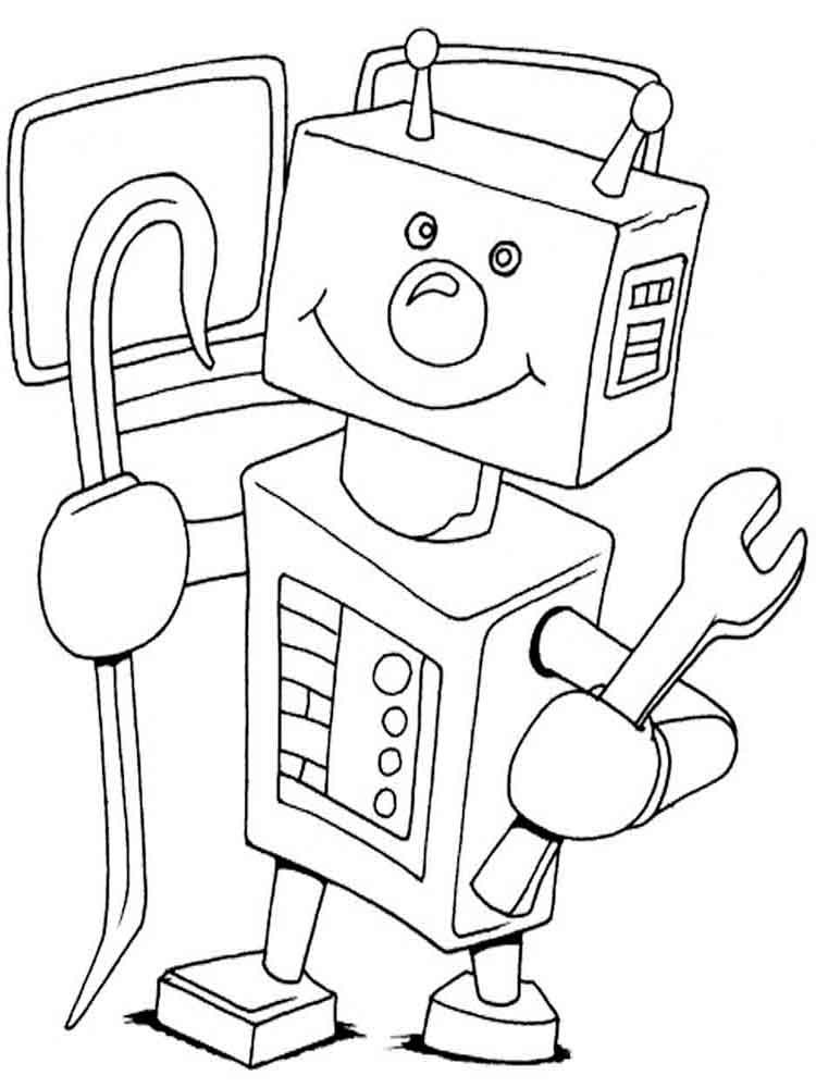 Robots coloring pages Download